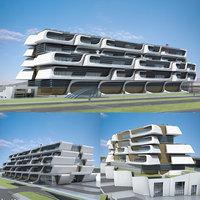 3D futuristic skyscrapers 14 model