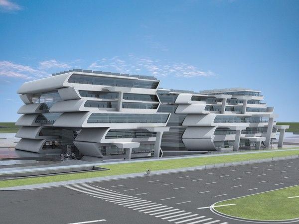 futuristic skyscrapers 15 3D model