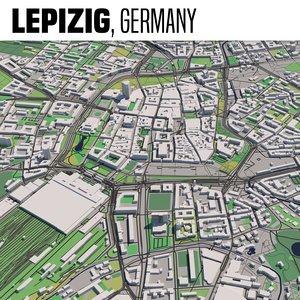 city leipzig 3D