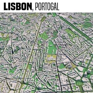 city lisbon 3D model