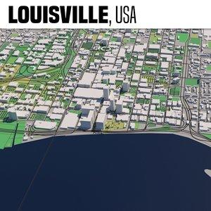 3D city louisville model