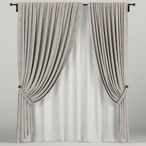 3D brown curtain