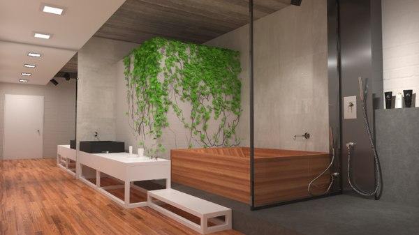 unity green bathroom model