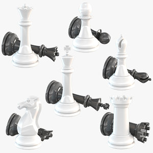 3D chessmen set model