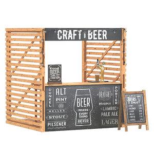 beer stand 3D model