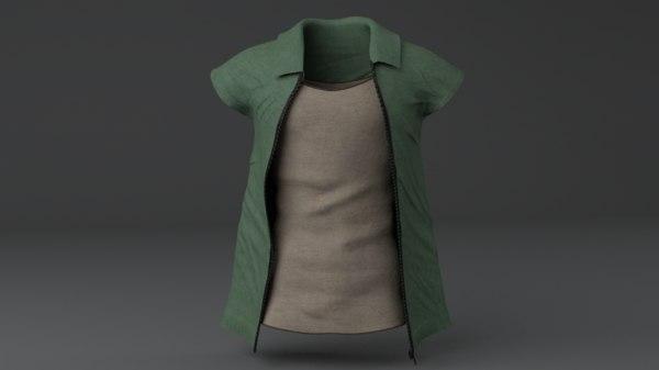 men clothing set 3D model