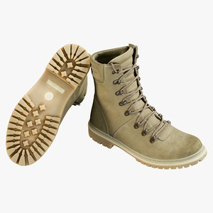 realistic boots military coyote model