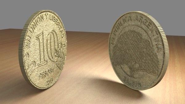 10 coin 3D model