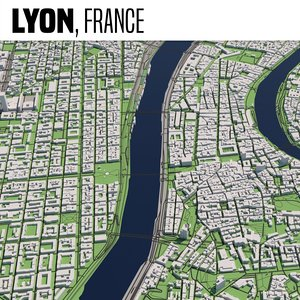 3D city lyon