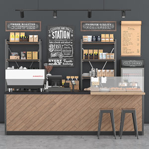 coffee bar 3D model