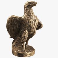 3D statuette eagle 01