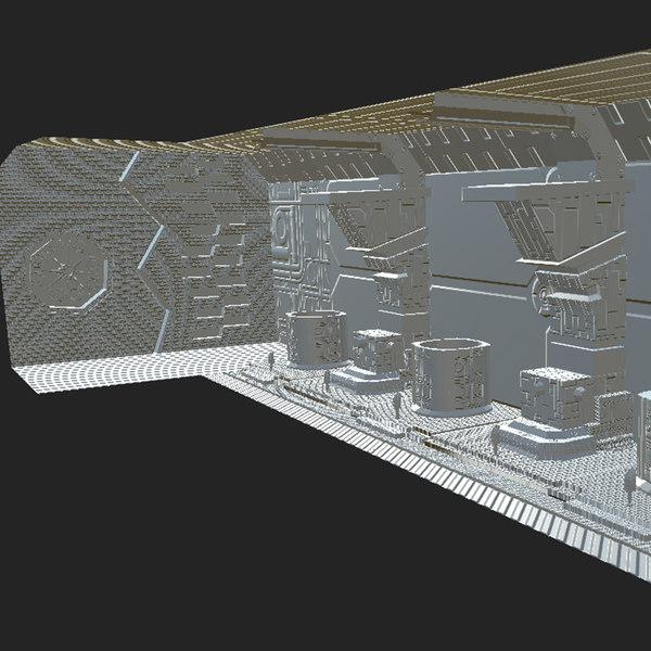 3D corridor modeled