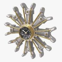 Powerplant Engine Clock