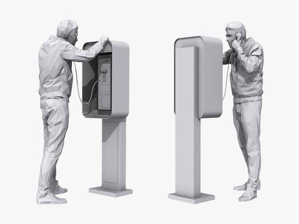 3D phone talk model