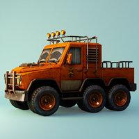 cartoon suv car 3D model