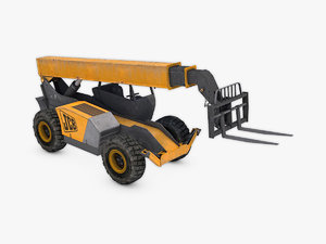 telescopic handler forklift 3D model