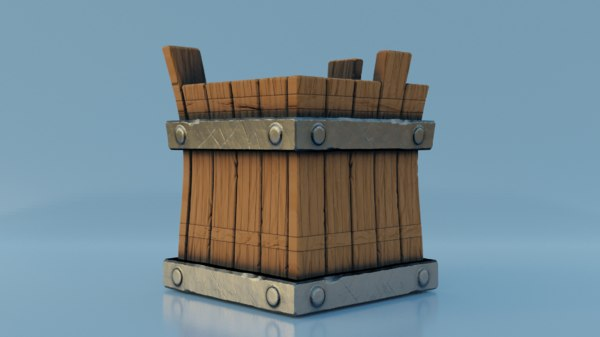 3D stylized bucket model