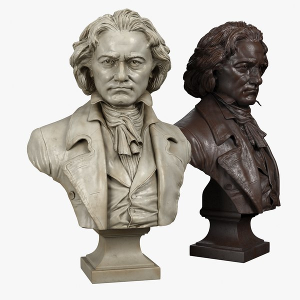 decorative bust beethoven 3d model