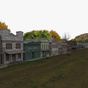 western village 3D