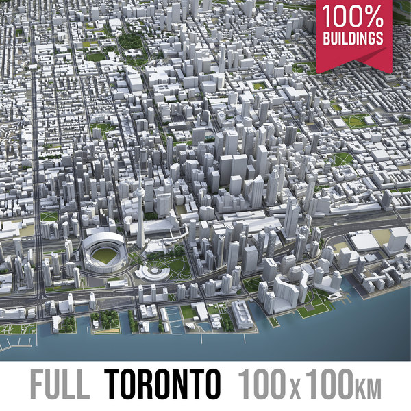 3D model toronto canada town