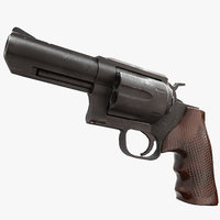 3D revolver real time - model