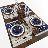 dishes plate tableware 3D