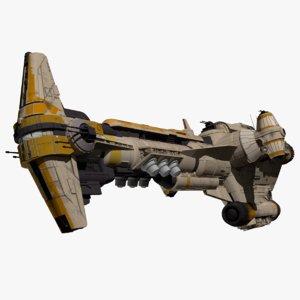 3D hammerhead corvette