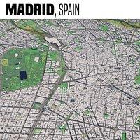 3D city madrid spain model