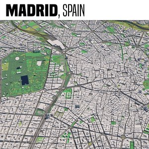 3D city madrid spain model