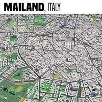 city milan italy model