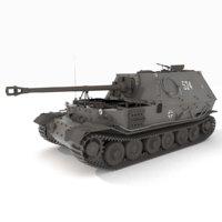 3D ferdinand tank model
