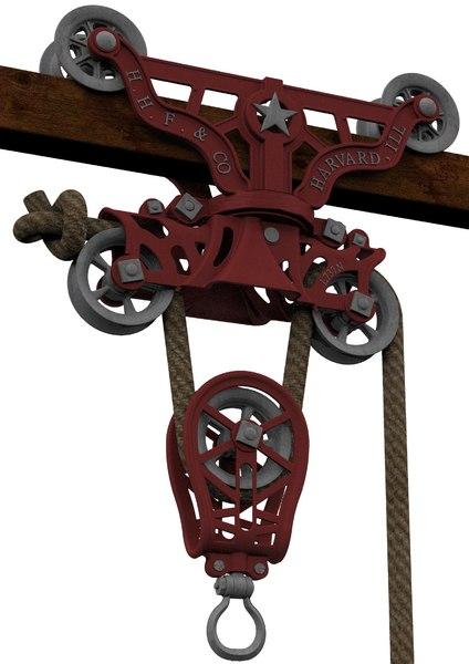 vintage hay trolley h 3D model
