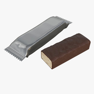 3D chocolate candy wrap model