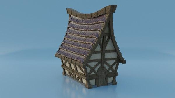 3D stylized house