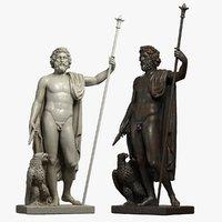 zeus sculpture marble 3D model