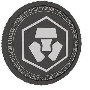 crypto com coin 3D model