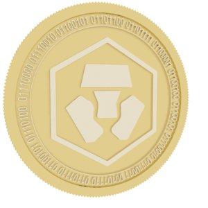 3D crypto com gold coin