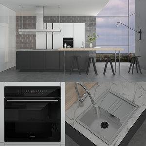 poliform varenna artex kitchen 3D