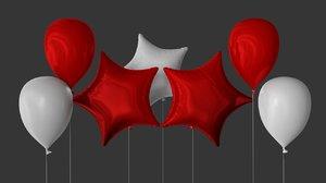 3D model balloon celebration