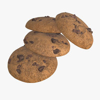 chocolate pieces cookie 3D model