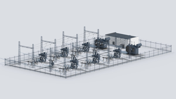 electrical substation 3D
