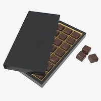 3D sweets package chocolate model