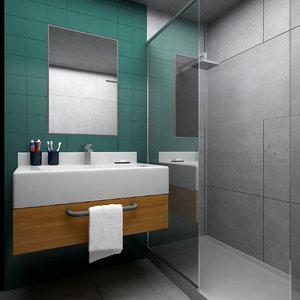3D bathroom soap toothpaste model