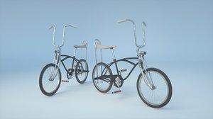 3D retro 80s schwinn bicycle
