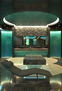 3D pool room spa model