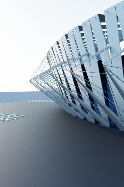 3D stadium arena model