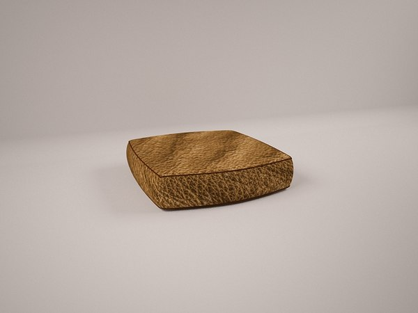 leather brown pillow modeller 3D