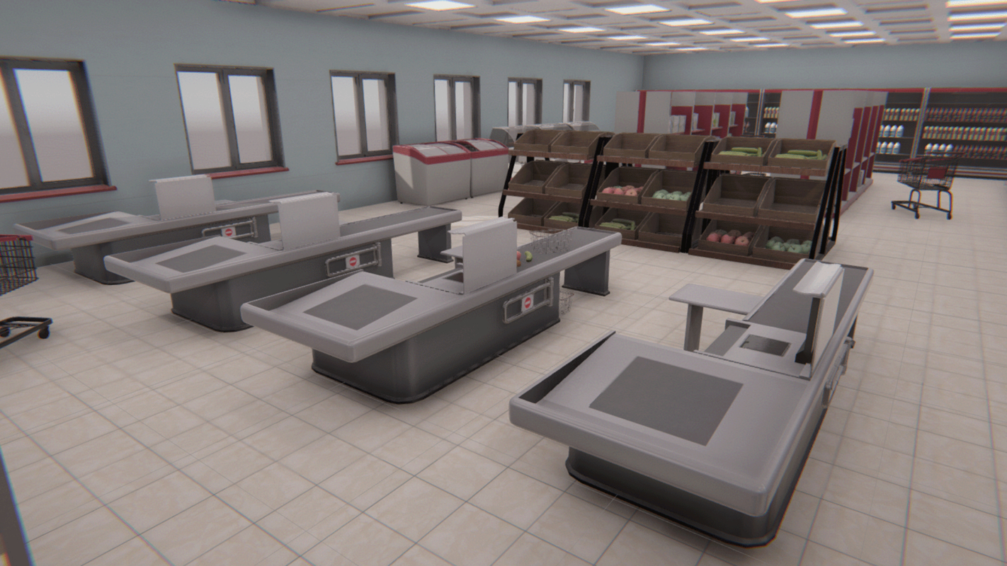 vr grocery store - 3D model