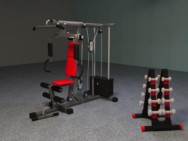 3D model gym machines