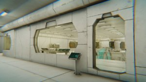 3D model vr modular interior sci-fi